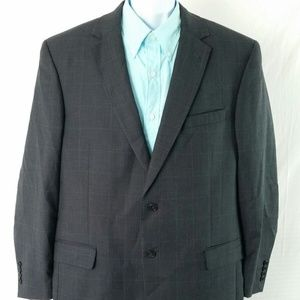 Jos A Bank 44LG plaid 2 Button Blazer sport jacket